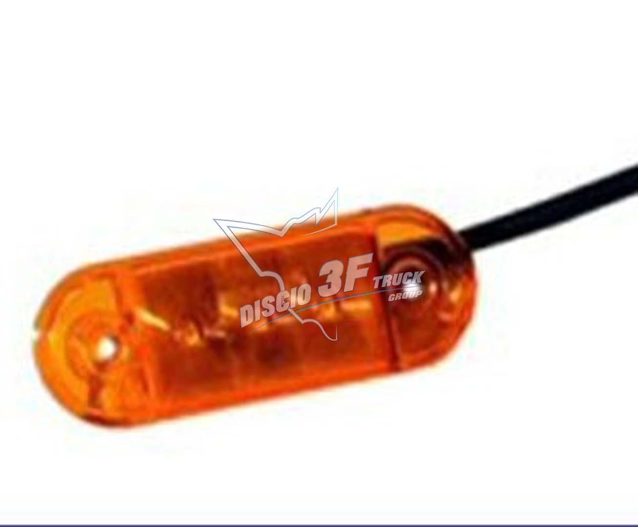 Fanale Ingombro 3 Led, Arancio