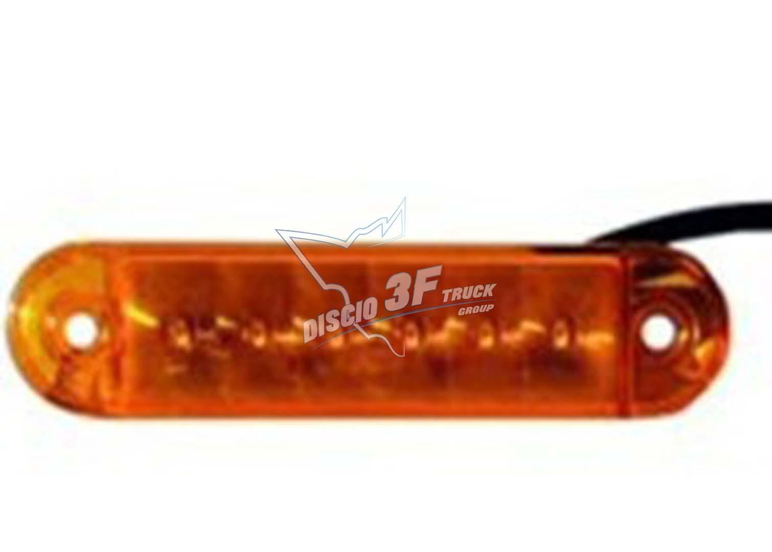 Fanale Ingombro 6 Led, Arancio